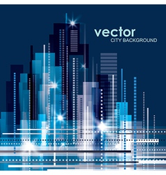 Modern cityscape concept background vector image vector image