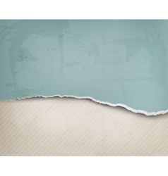 Old background with ripped paper and old wall vector