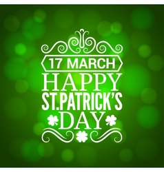 Patrick day sign design background vector image vector image