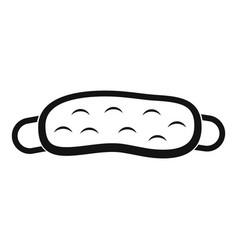 sleeping mask icon simple style vector image