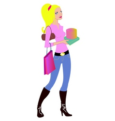 woman during the shopping vector image vector image