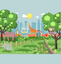 banner landscape scenery vector image vector image