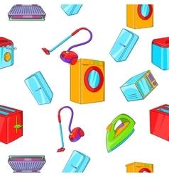 Home appliances pattern cartoon style vector