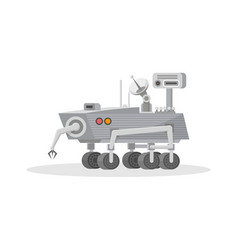 mars rover with hand manipulator icon vector image