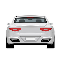 modern generic car rear view vector image