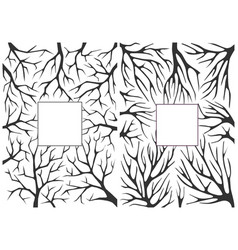 monochrome black and white background with tree vector image