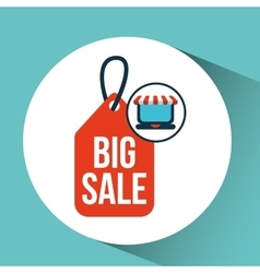 online shopping big sale icon concept vector image