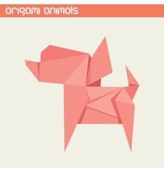 Origami isolated animal cute dog vector