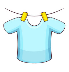 Shirt on the rope icon cartoon style vector