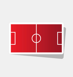 soccer field new year reddish icon with vector image