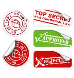 top secret labels vector image