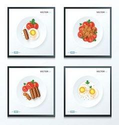 breakfast foods set vector image