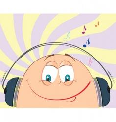cartoon music vector image vector image