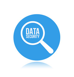 data security word magnifying glass vector image