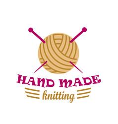 knitting logo elements vector image