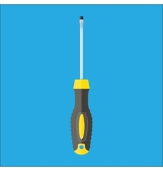 Modern screwdriver with plastic handle vector image