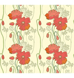 Seamless Abstract Natural background with Poppy vector image