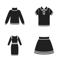 Skirt t-shirt sweater dress with long sleeves vector