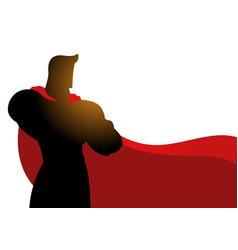 superhero in gallant pose vector image vector image