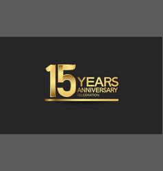 15 years anniversary celebration with elegant vector