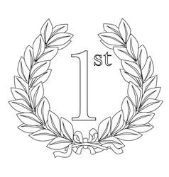 1st laurel wreath vector image