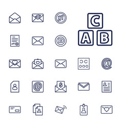 22 letter icons vector