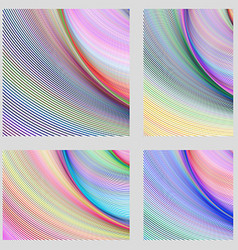 Abstract digital brochure background set vector image