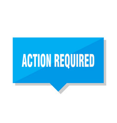 Action required price tag vector