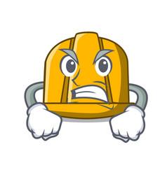 angry construction helmet mascot cartoon vector image