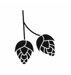 Branch of hops icon simple style vector image