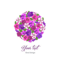 business template floral design in circle vector image