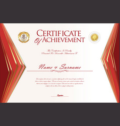 Certificate or diploma design template 1 vector