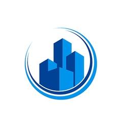Cityscape modern building architecture logo vector