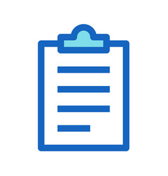 Clipboard business filled line icon blue color vector