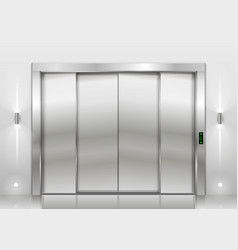 Closed elevator doors vector