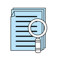 Color silhouette image of search files with tool vector
