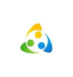 connection people teamwork logo symbol icon vector image