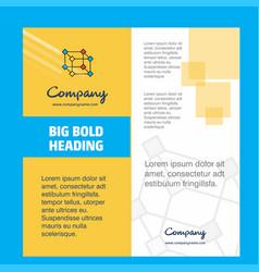 cube company brochure title page design company vector image