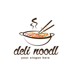 Deli noodle logo vector