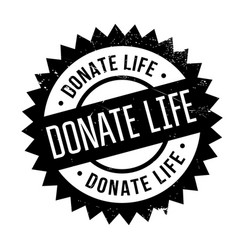 Donate life rubber stamp vector