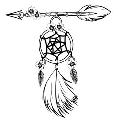Dream catcher with arrow vector