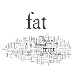 Easily substitute fats in your everyday diet vector