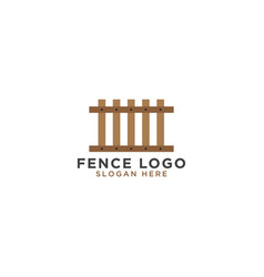 fence logo design template vector image
