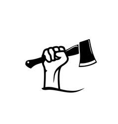 Fist hand axes logo design inspiration vector