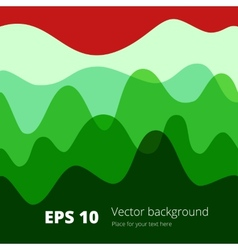 Flat colored wave design background vector image