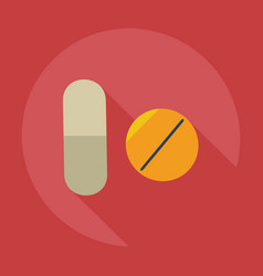 Flat modern design with shadow icons pills vector