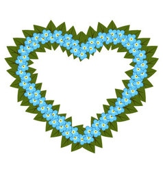 Forget me not flower heart vector image