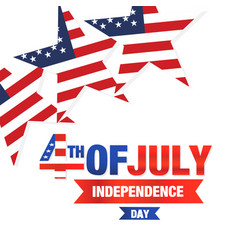 fourth of july independence day united stated star vector image