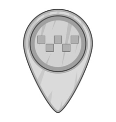 Geo taxi icon gray monochrome style vector image