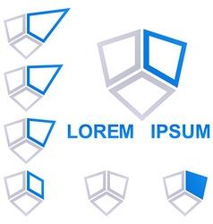 Geometric Square Logo Set vector image